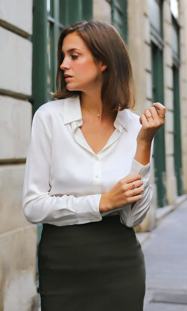 Women's silk blouses:-